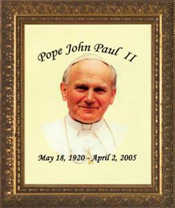 Pope John Paul II Smiling Tribute Framed Art