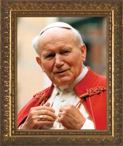 St. John Paul II Addressing the Faithful Framed Art