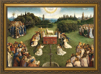 Altar of the Lamb Framed Canvas