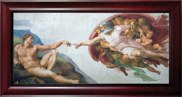 Creation of Adam by Michaelangelo Framed Art