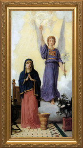 L'Annunciation - Standard Gold Framed Art