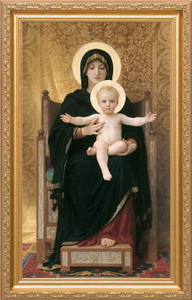 Virgin and Child - Standard Gold Framed Art