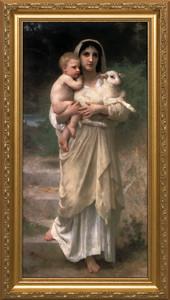 Young Shepherdess Framed Art