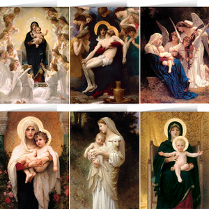Assorted Bouguereau Madonnas Card Set