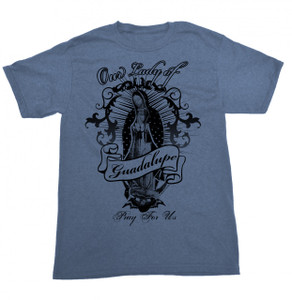 Guadalupe Banner Blue T-Shirt