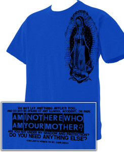 Guadalupe Shoulder T-Shirt with Quote on Back