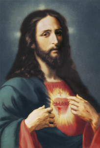 Sacred Heart Outdoor Image Plate