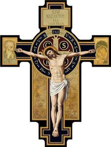 Benedictine Cross Cutout Magnet