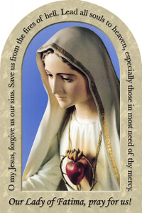 Our Lady of Fatima Prayer Arched Magnet
