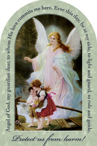 Guardian Angel Prayer Arched Magnet II