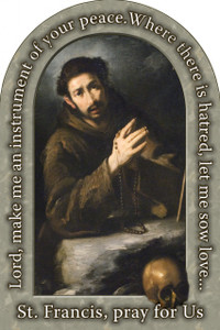 St. Francis of Assisi Prayer Arched Magnet