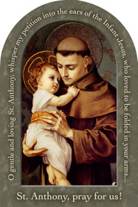 St. Anthony with Jesus Prayer Arched Magnet