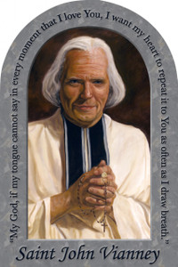 St. John Vianney Prayer Arched Magnet