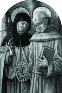 Sts. Catherine & Bernardino Arched Magnet
