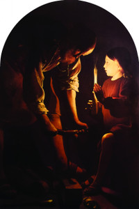 St. Joseph Working Late Arched Magnet