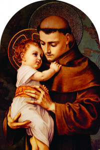 St. Anthony with Jesus Arched Magnet