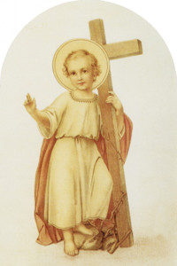 Christ Child with Cross Arched Magnet