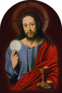 Christ With Eucharist Arched Magnet