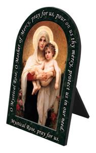 Madonna of the Roses Prayer Arched Desk Plaque