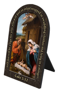 Nativity Prayer Arched Desk Plaque