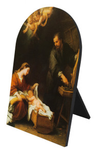 Holy Family Arched Desk Plaque