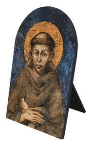St. Francis of Assisi Arched Desk Plaque