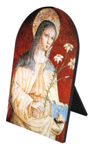 St. Clare Arched Desk Plaque