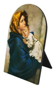 Madonna of the Streets Arched Desk Plaque