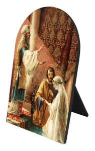 Wedding of Joseph and Mary Arched Desk Plaque
