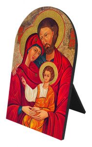 Holy Family Icon Arched Desk Plaque