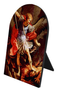 St. Michael the Archangel Arched Desk Plaque