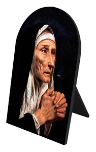 St. Monica Arched Desk Plaque
