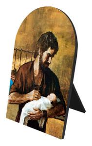 St. Joseph (Young With Jesus) Arched Desk Plaque