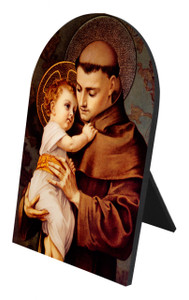 St. Anthony Arched Desk Plaque