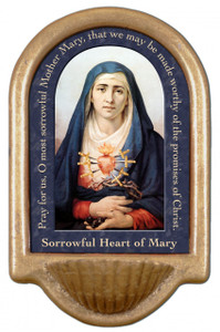 Sorrowful Mother Prayer Holy Water Font