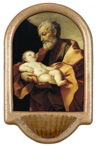 St. Joseph (Old With Jesus) Holy Water Font