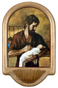 St. Joseph (Young With Jesus) Holy Water Font