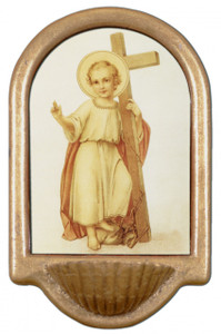Christ Child with Cross Holy Water Font