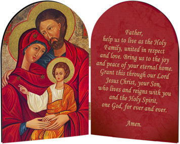 Holy Family Icon Arched Diptych