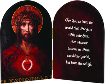 For God So Loved the World Arched Diptych