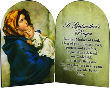 A Godmother's Prayer Madonna of the Streets  Arched Diptych