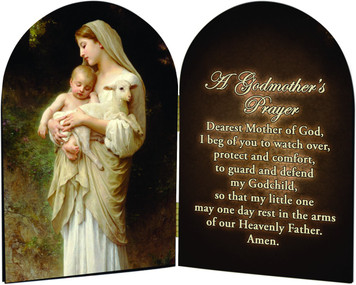 A Godmother's L'Innocence Prayer Arched Diptych
