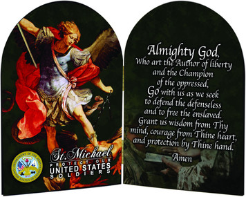 Army St. Michael I Arched Diptych