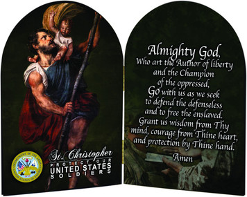 Army St. Christopher I Arched Diptych