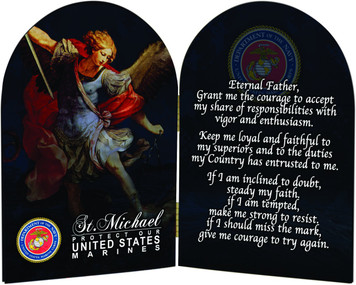 Marines St. Michael II Arched Diptych