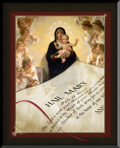 Hail Mary Queen of the Angels Graphic Wall Plaque