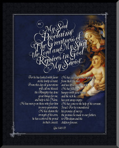 Madonna of the Magnificat Graphic Wall Plaque