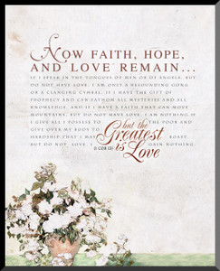 1 Corinthians 13 Graphic Wall Plaque