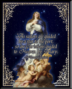 Immaculate Conception Graphic Wall Plaque