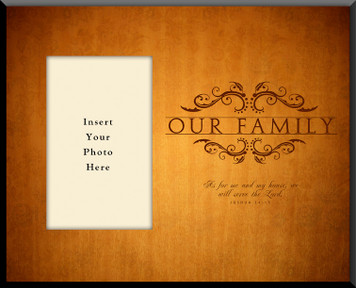 Our Family Picture Wall Plaque